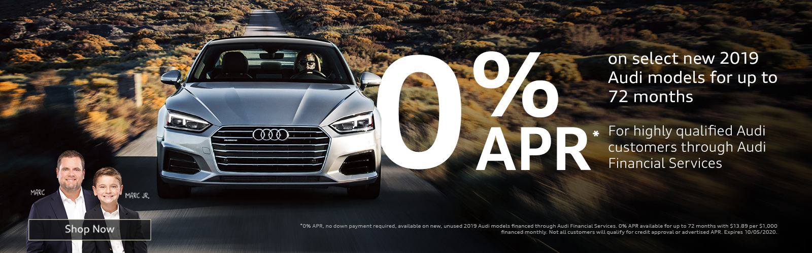 0% APR Available at Audi Greenville
