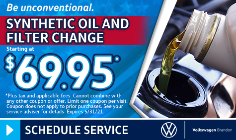 Synthetic Oil and Filter Change Coupon in Tampa FL