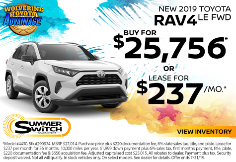 New Toyota Specials | Dundee MI | Serving Dearborn & Westland