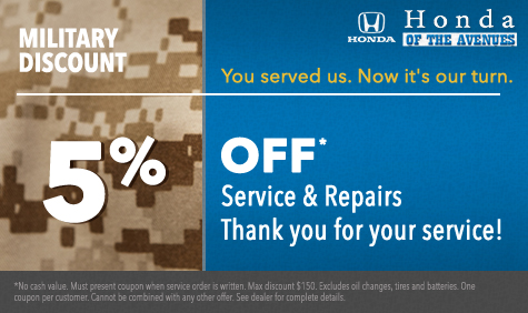 Military Discount in Jacksonville FL | Serving Northeast Florida & First Coast
