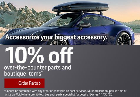 Porsche Parts and Boutique Items Offer in Livermore CA